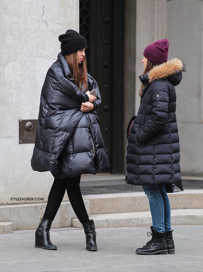 Crna pernata jakna - jedan posve neobičan kroj, Style Zagreb, street style fashion ulična moda gdje kupiti volumnoznu crna pernata jakna, kako kombinirati punjene jakne, zimska moda. Women's winter fashion how to style winter look