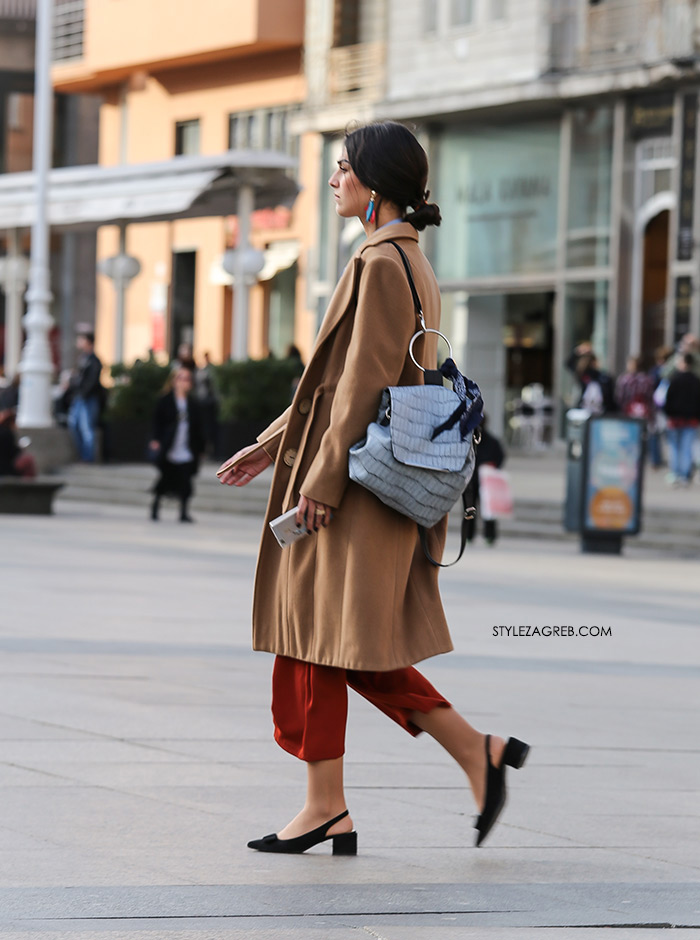 Slika: Trendovske cipele s blok potpeticom ona je izvrsno uklopila | Style Zagreb, street style zagreb špica danas šos hlače suknja hlače culottes, cipele s blok potpeticom hit cipele ovog proljeća Mare Bilić Instagram