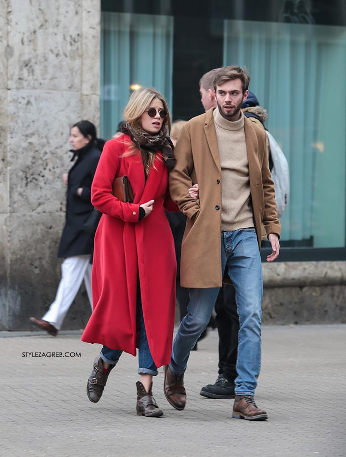 Frizure trendovi Cijena Facebook, Youtube 24 Index Instagram Slike Street style: gdje god se osvrnemo - boje! Street style spring women's fashion how to wear red coat jeans ankle boots