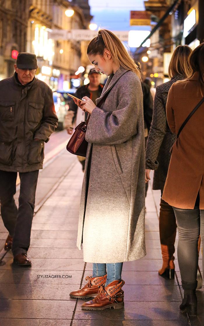 Facebook, Youtube 24 Index Instagram Slike: street style ženska moda 24 Instagram - Kada jednostavan styling govori stotinu stylish jezika | Style Zagreb, street style women's fashion ženska moda how to style grey coat and studded ankle boots kako kombinirati sivi kaput i gležnjače sa zakovicama