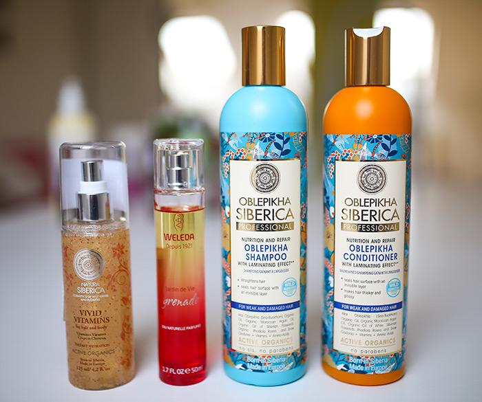 Proizvodi iz bio & bio: Oblepikha Siberica šampon za slabu i oštećenu kosu 51,90 kn; Oblepikha Siberica regenerator za gustoću i sjaj 51,90 kn; Vivid Vitamins 68 kn