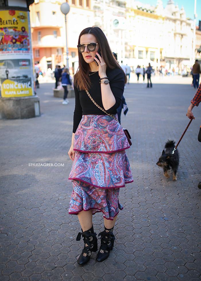zagrebačka špica proljetna moda street style styling suknja s volanima Larie Marina Lacković Instagram