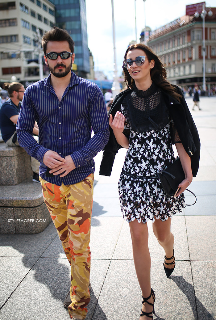 zagrebačka špica proljetna moda street style styling haljina od čipke