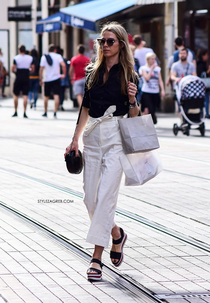 style zagreb špica zagreb danas street style slika flatforme bijele hlače