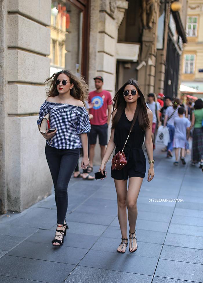 Street style Zagreb: Što se na početku lipnja nosi u Zagrebu...   Style Zagreb, proljetna ženska moda, kombinezon, bluza golih ramena