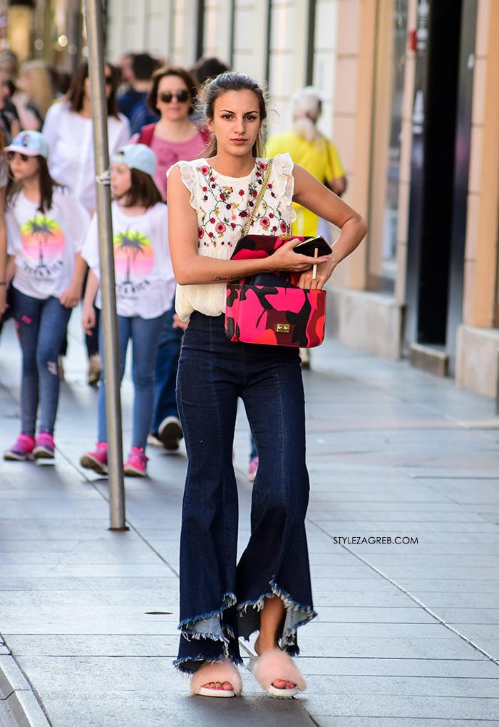 Zvonolike traperice: Hit model ljetnih hlača koji ili voliš ili se groziš | Style Zagreb, ekstremne zvonolike traperice stajling špica zagreb ilica zara model hlača