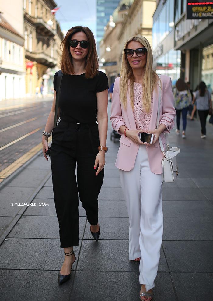 odvjetnica Ana Olivari Pavličić, zagrebačka špica street style zagreb kako nositi roza sako bijele široke hlače