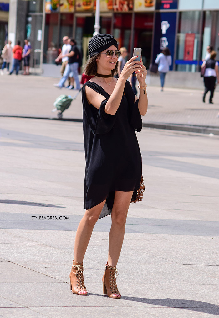 crni styling turban mini crne haljine zagrebačka špica street style zagreb