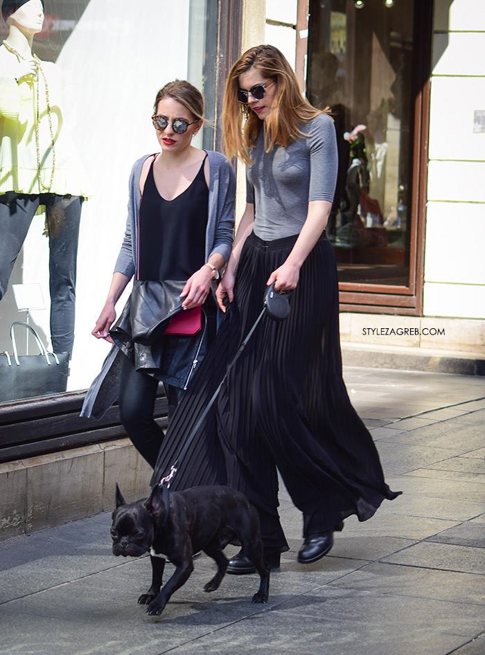 zagrebačka špica street style zagreb crni styling plisirane suknje culottes suknja-hlače šos-hlače