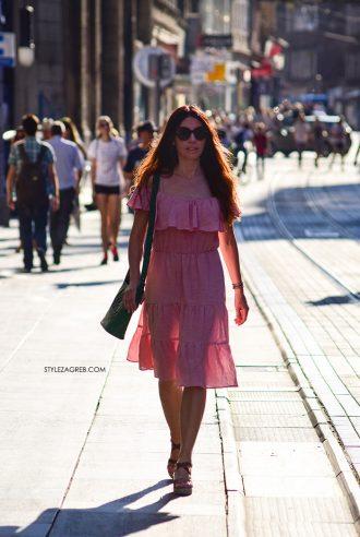 Sistersjo StyleZagreb Haljina od lana u puderastoj boji - Pink Coquette