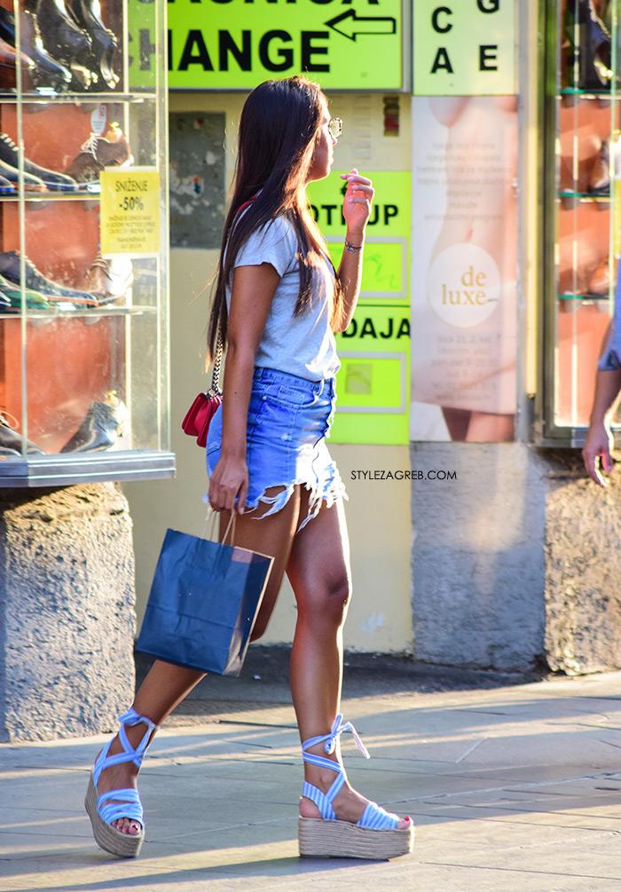 Street Style Zagreb Ljetni Traper Raport street style 2017 traper minica i espadrile na punu petu