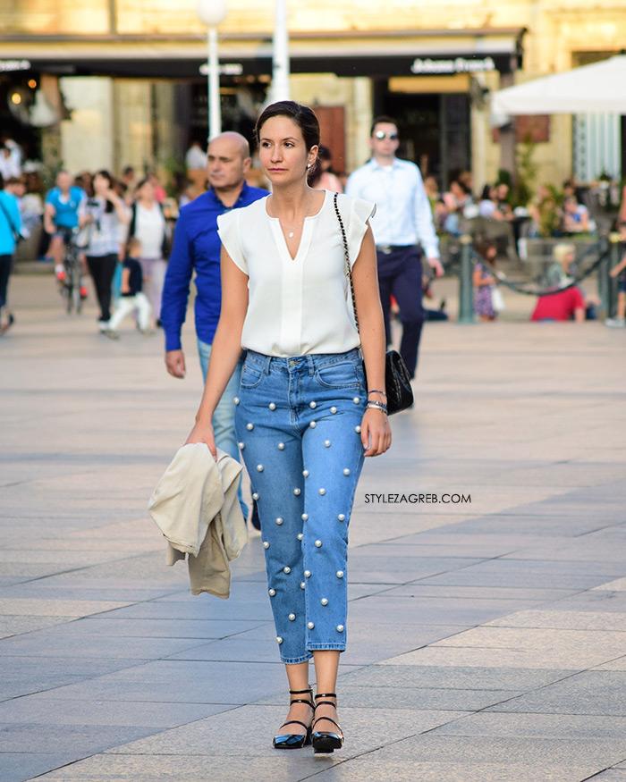 Street Style Zagreb Ljetni Traper Raport street style 2017 traperice s perlama Zara