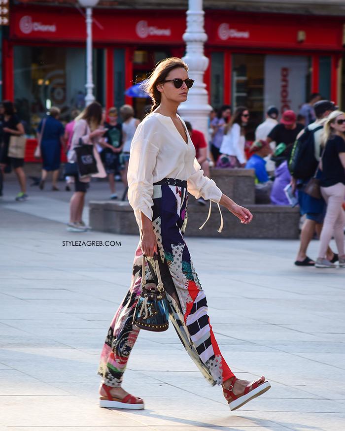 Ženska moda špica street style Zagreb kolovoz 2017 široke prozirne hlače