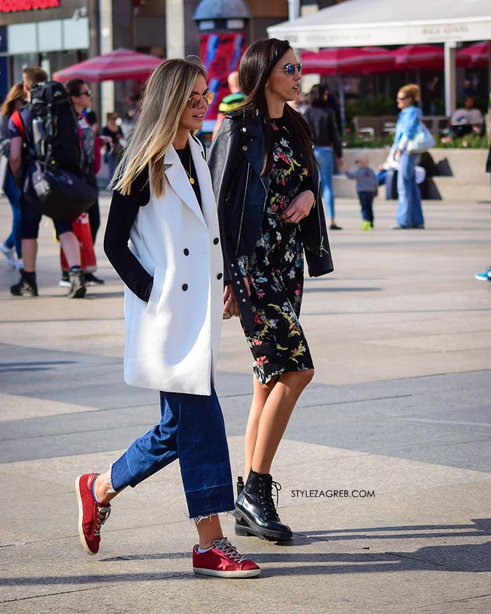 Kako kombinirti bijeli prsluk Rujanska špica vrvi jesenskim trendovima Street style Zagreb jesenska ženska moda lijepe cure
