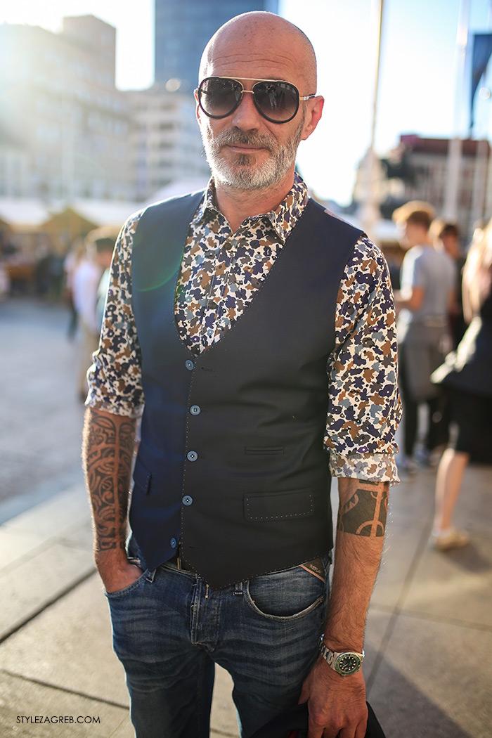 Alen Kolbas: Kontrolor leta s tetovažama u finom odijelu | Style Zagreb street style muška moda odijelo Ivica Klarić