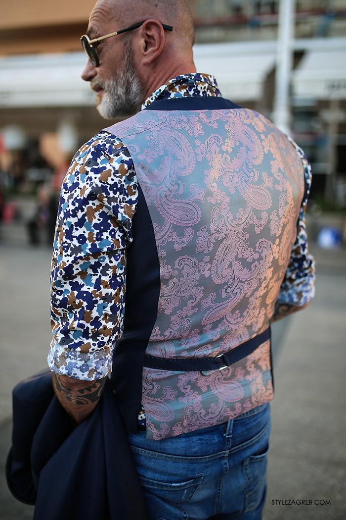 Alen Kolbas: Kontrolor leta s tetovažama u finom odijelu | Style Zagreb street style muška moda odijelo Ivica Klarić, traperice Replay, Gucci loafers, prsluk s podstavom