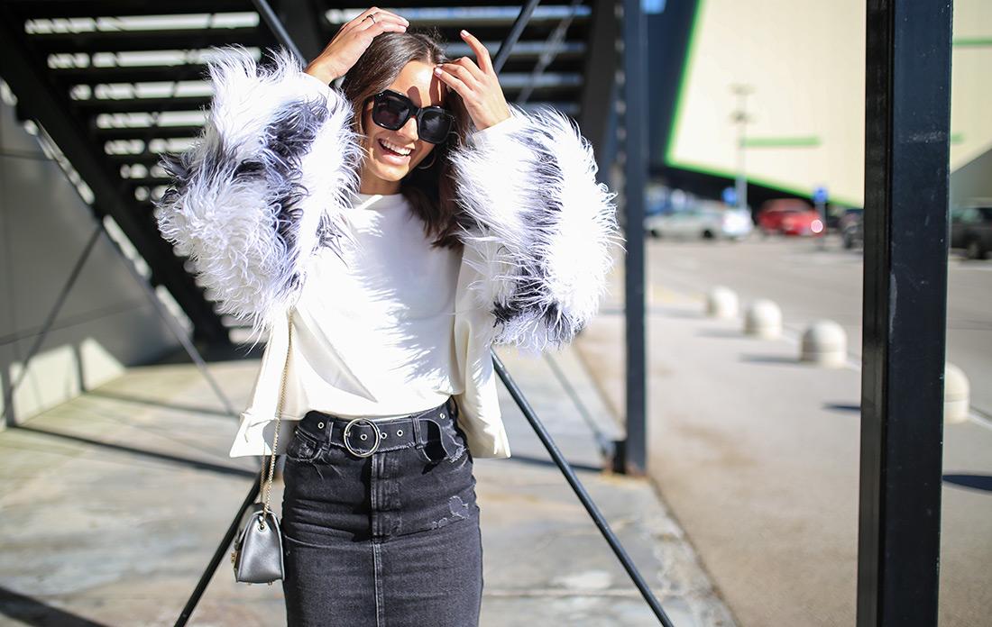 Paula Vuko, Style Zagreb, street style špica Arena centar jesenska moda trendovi traper crna suknja Zara