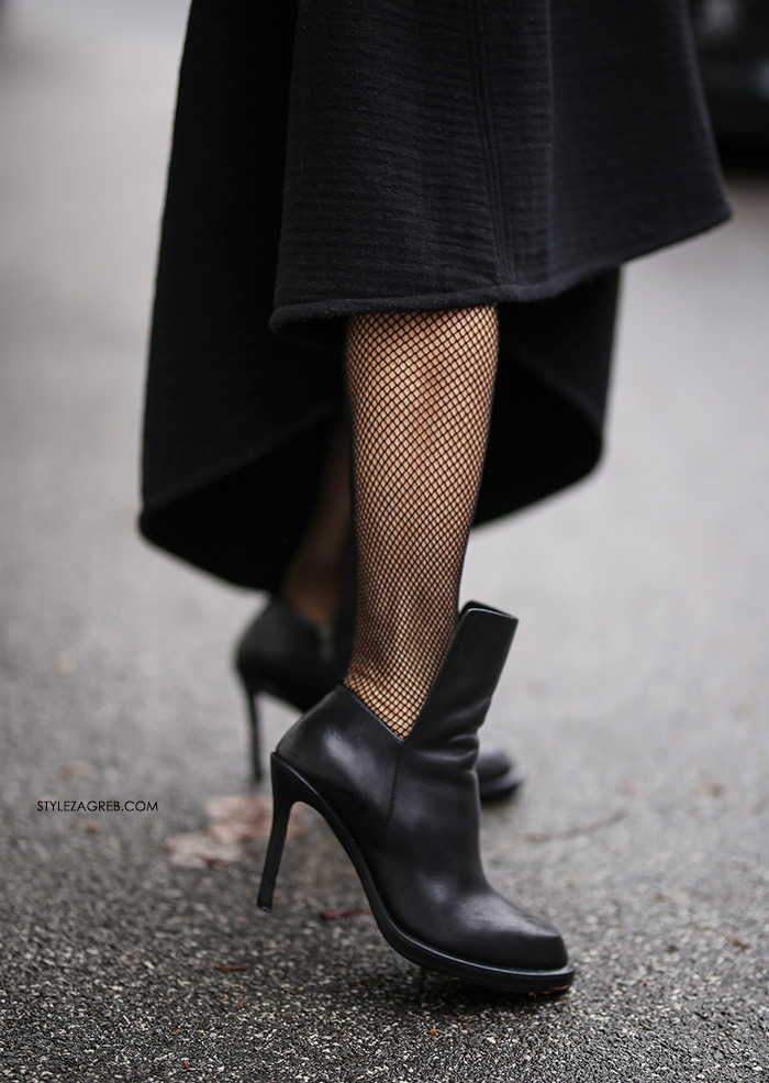 Đurđa Tedeschi crna haljina stil najbolje odjevena street style modna ikona
