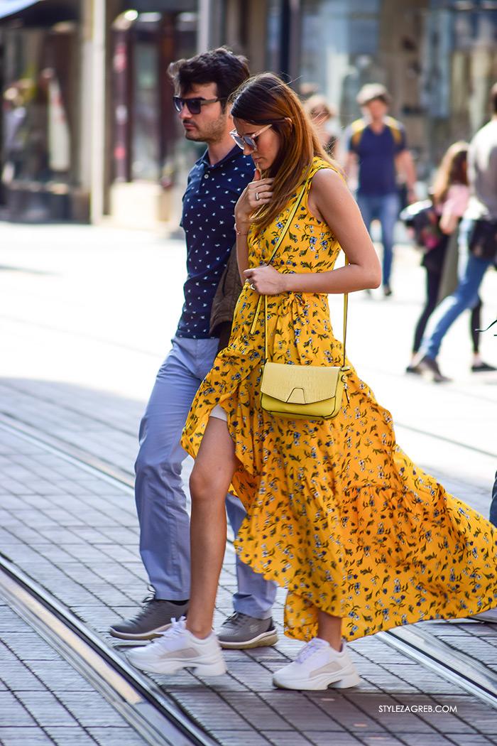 žuta haljina tenisice Zara event managerica Melin Arda