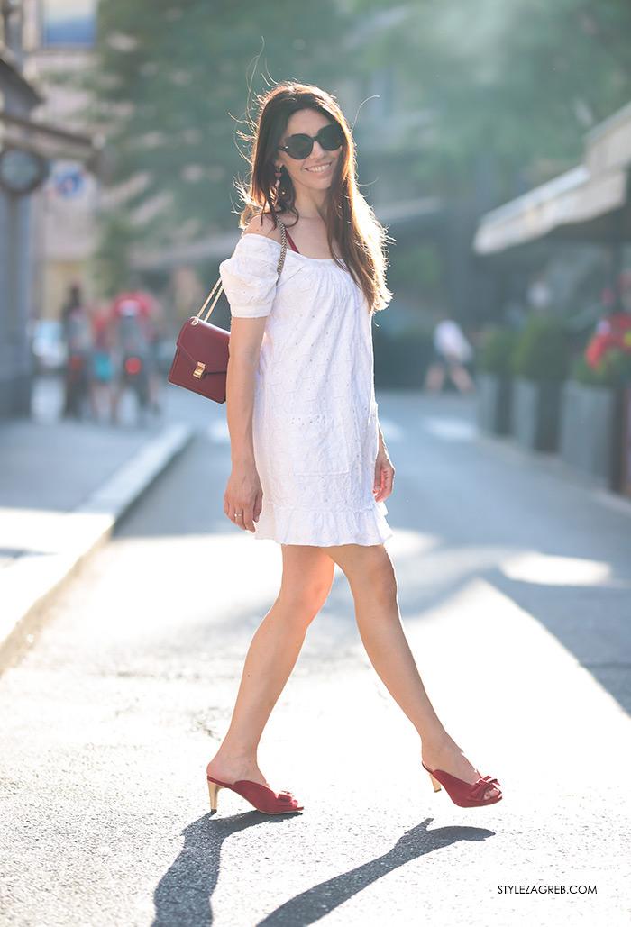 Ana Josipović Style Zagreb street style ljeto špica crvene sandale natikače s mašnom