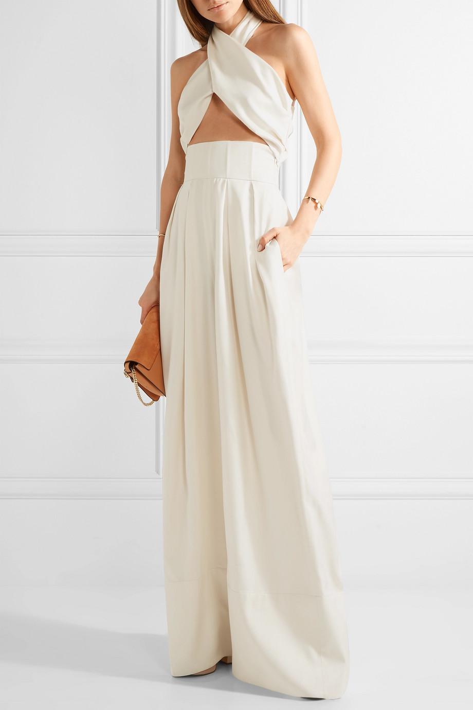 bijeli svečani kombinezon za vjenčanja Rosie Assoulin