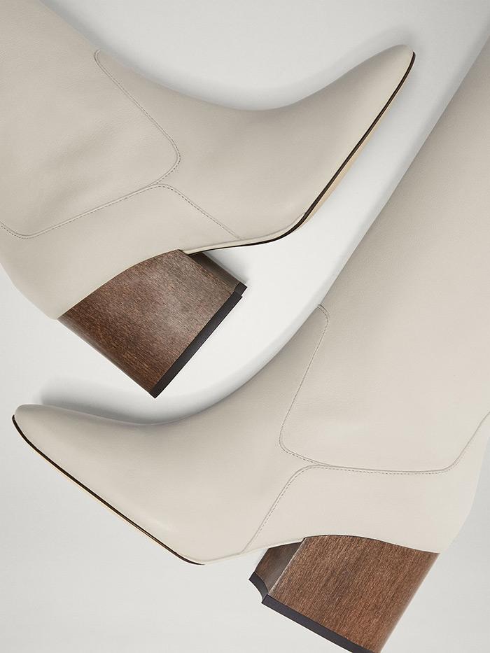 bijele čizme jesenska moda styling ideje