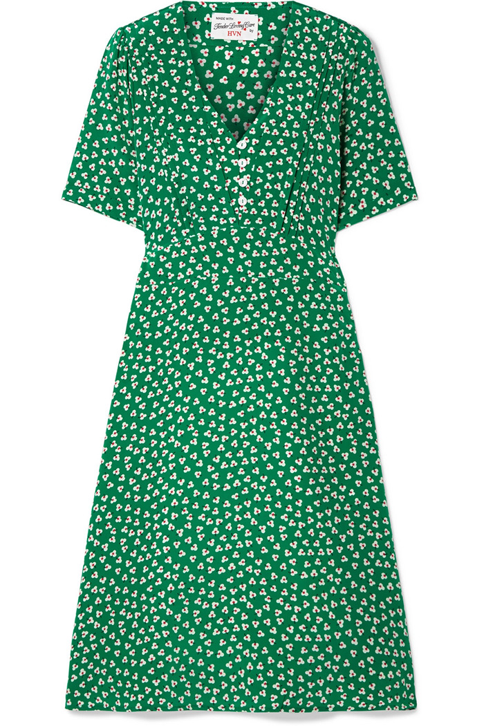 Silk green Lola dress, HVN, Net-a-Porter »