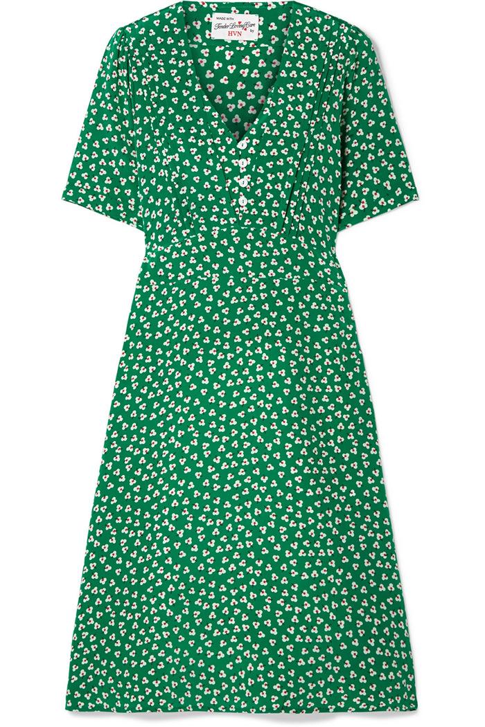 Silk green Lola dress, HVN, Net-a-Porter »