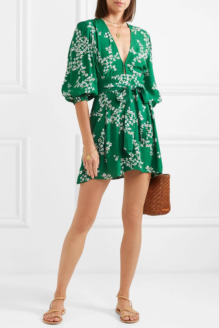Green Margot dress, Faithfull The Brand, Net-a-Porter