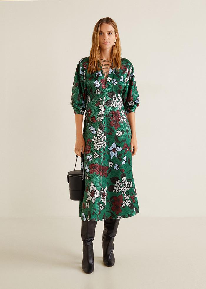 Mango zelena haljina hit street style haljina