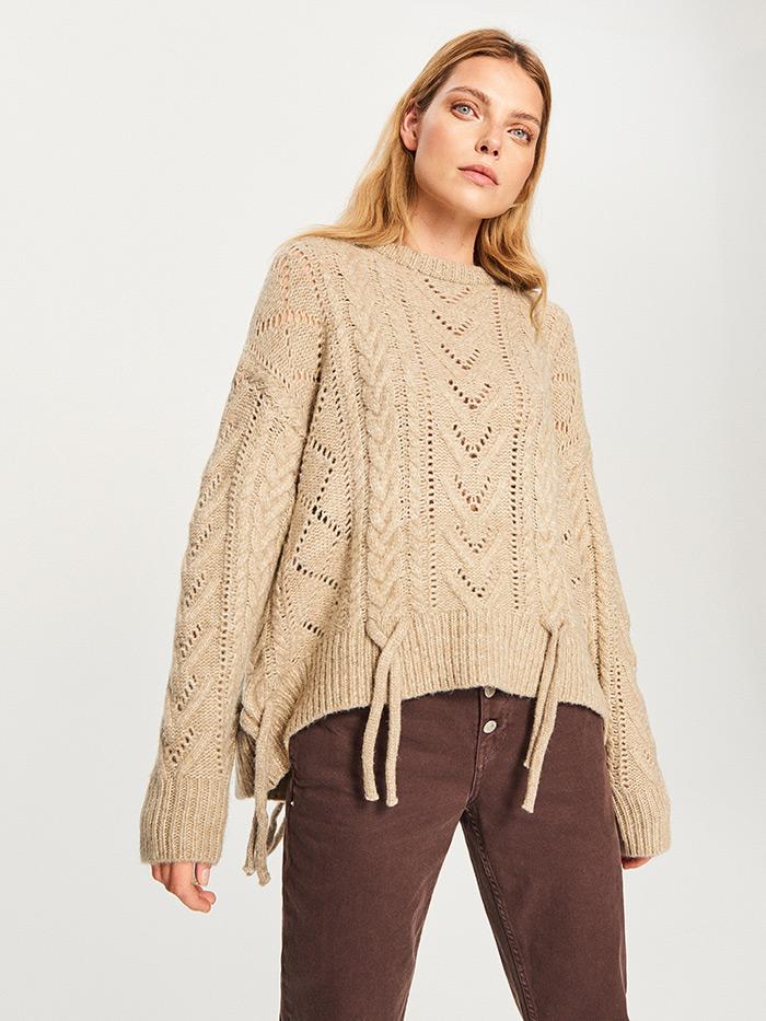 Kombiniranje džemper bež boje