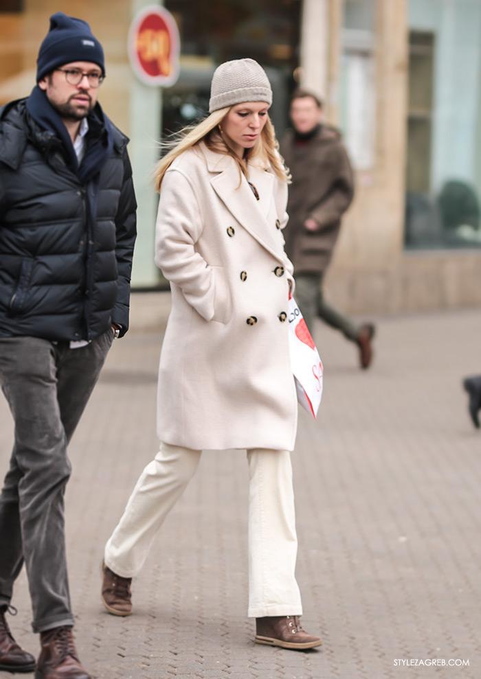 kako nositi bijelu boju zimi
