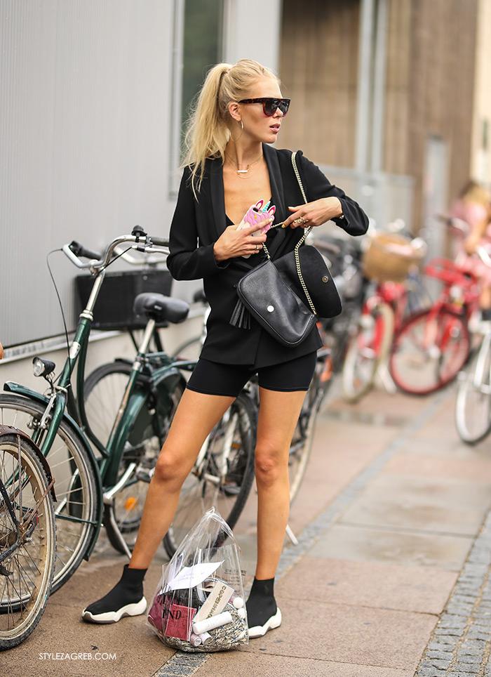 biciklističke hlačice Zara Mango Reserved street style kako nositi