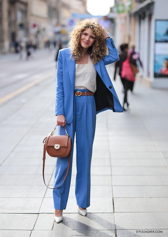 Melisa Sedić Zara plavo odijelo kako nositi