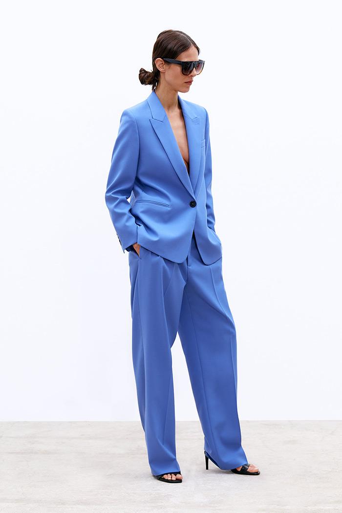 odijelo poslovni look Zara blue suit
