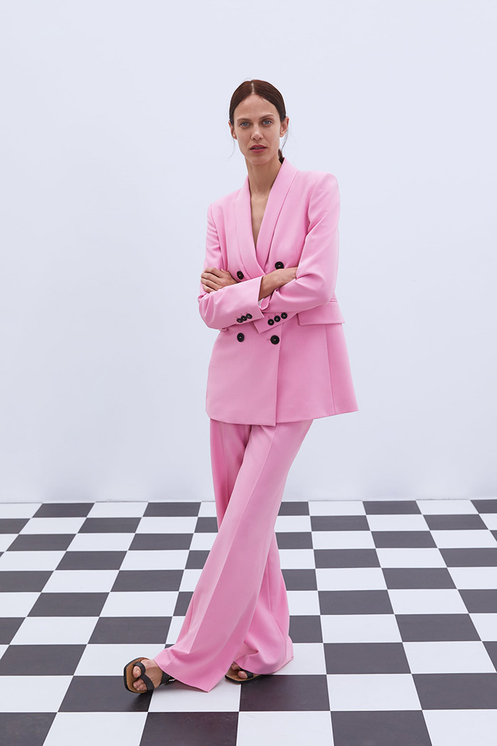 odijelo poslovni look Zara pink suit