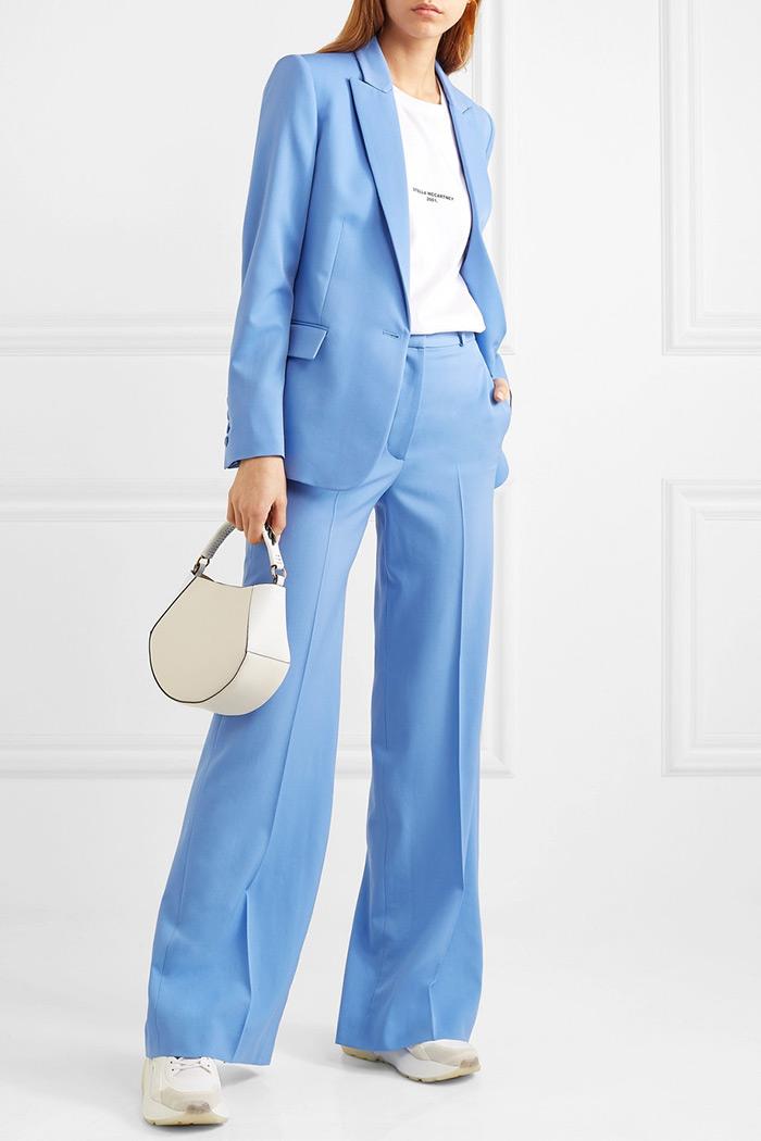 Stella McCartney blue blazer suit work wear style