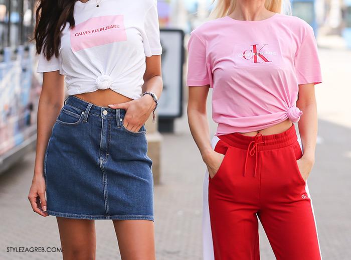 Tija Malik Instagram tijamalik i Karla Zelić Instagram @superbabekillah Calvin Klein roza t-shirt što kupiti na sniženjima