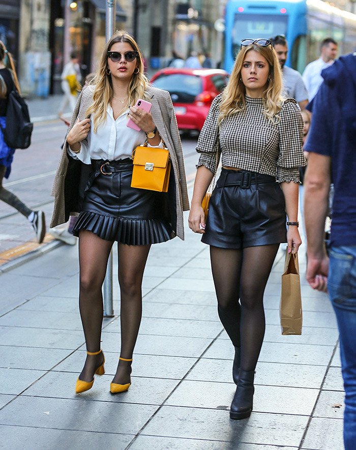 zara shop online hrvatska, Zara Ilica, zara web shop online hrvatska, minica od umjetne kože s plisiranim volanom zagreb street style