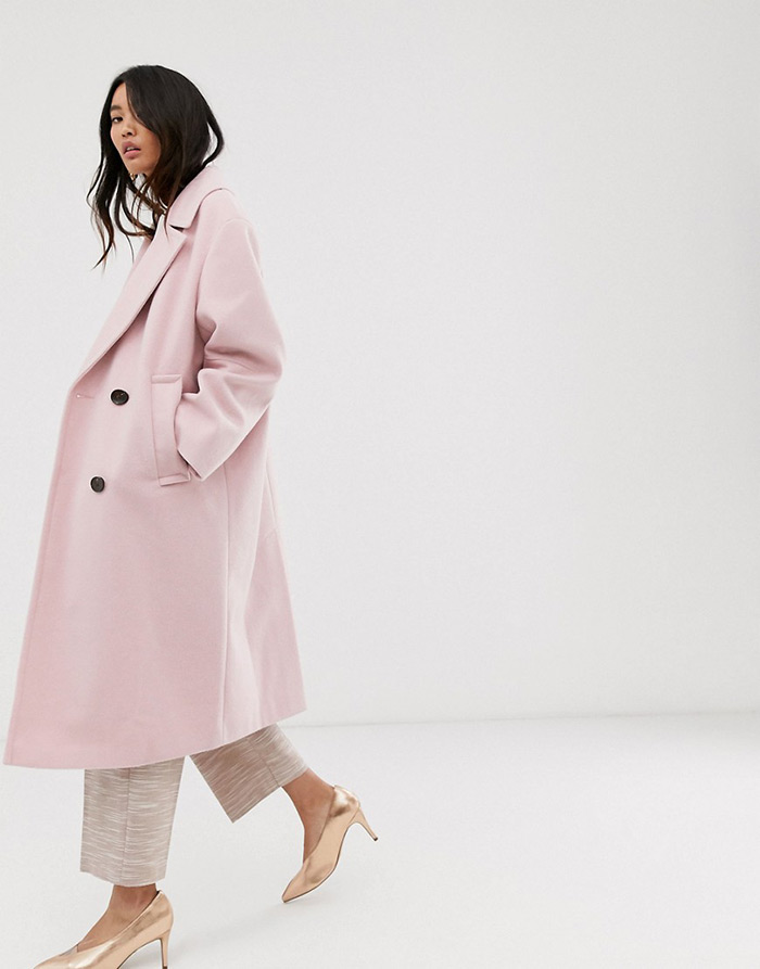 asos roza kaput webshop šljokičaste haljine hm asos pink coat