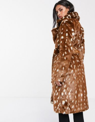 zenska moda 2019, zg street style slike fashion, bambi bunda faux fur coat teddy bear coat asos