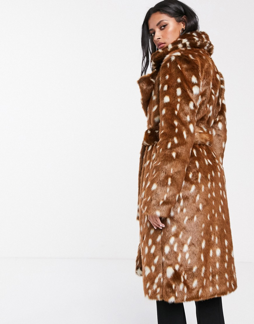 bambi bunda faux fur coat teddy bear coat asos