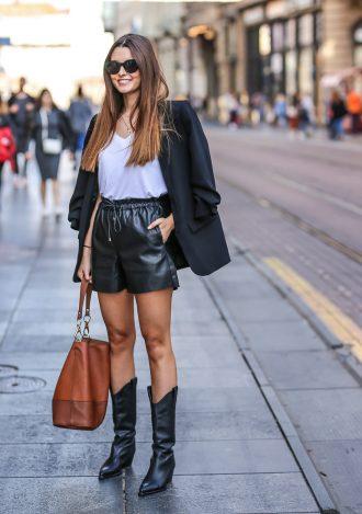 kaubojke 2019 street style zagreb ženska moda zima 2019 crne zara kaubojke tea dujmić instagram cura foto ana josipović
