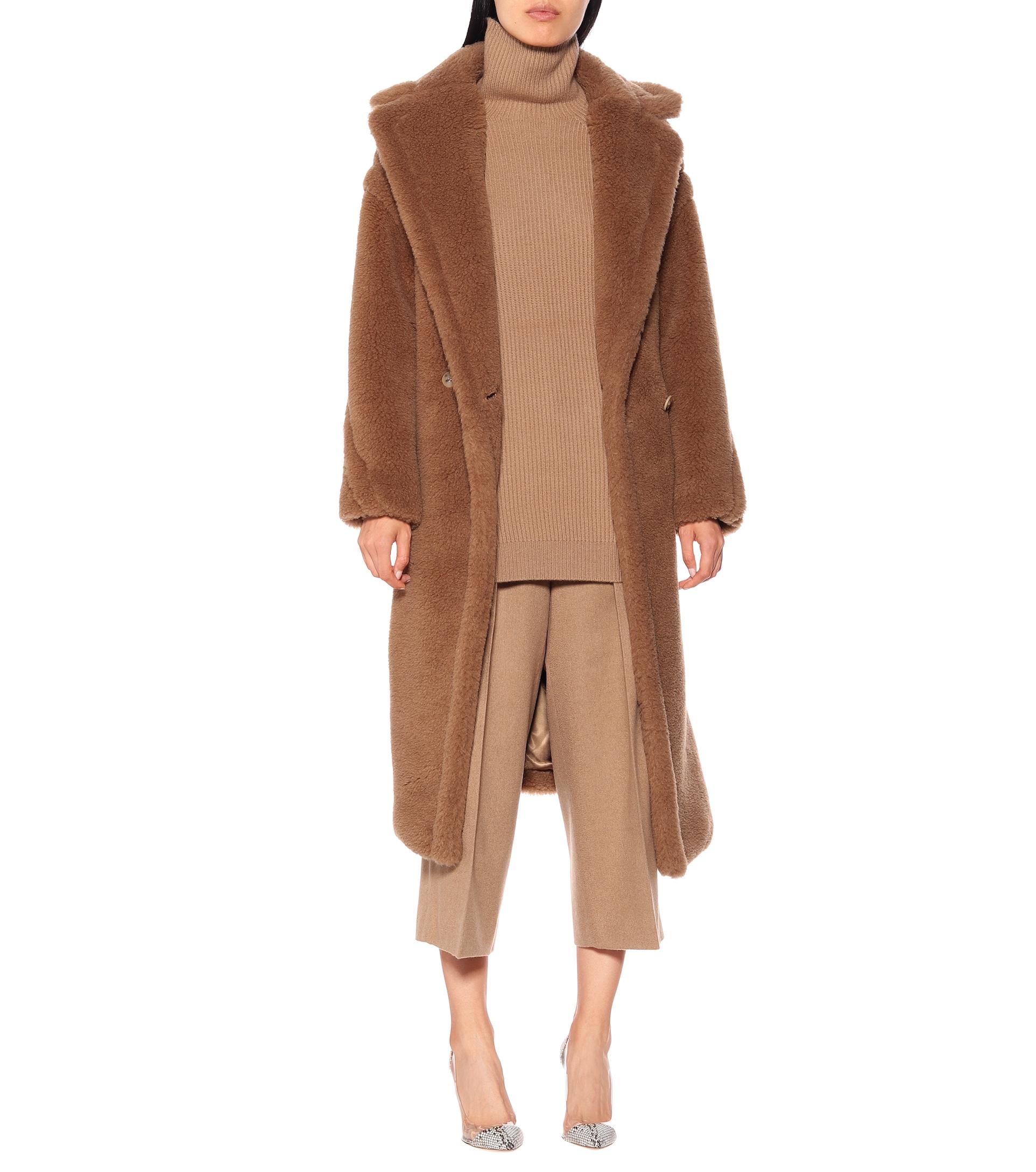 Teddy Bear Icon camel hair and silk coat