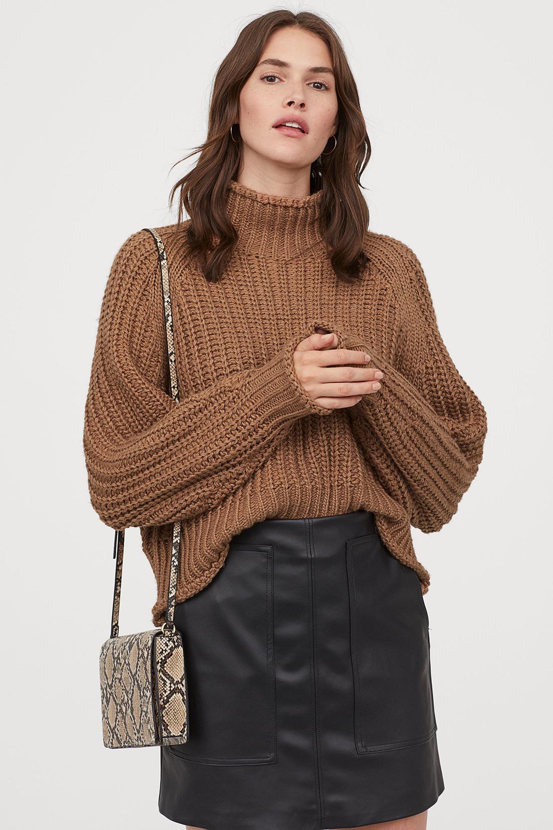 zenska moda 2019 street style hm zagreb pletivo dolčevita