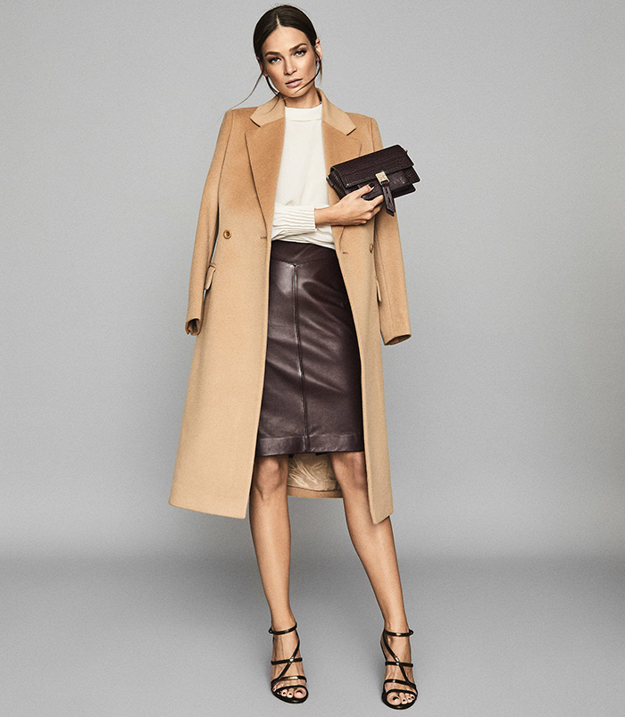 moda siječanj reiss poslovni look najbolje kožne suknje