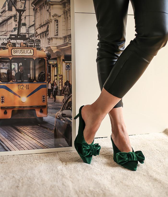 baršun cipele s mašnom Ana Josipović