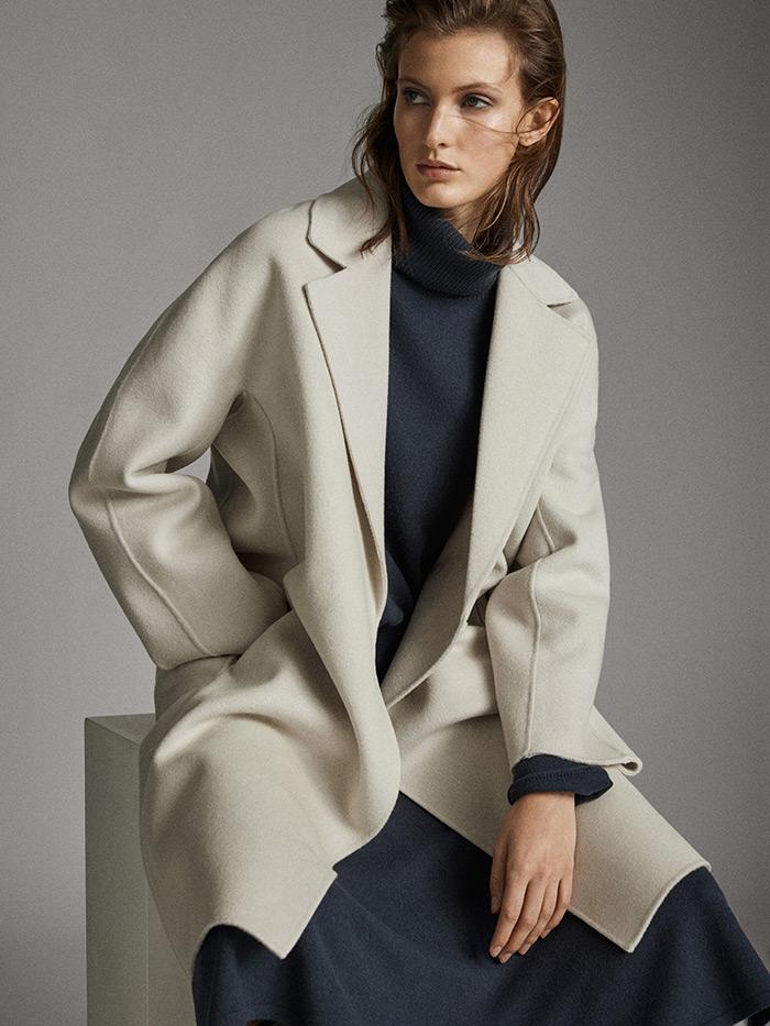 massimo dutti što odjenuti na posao kaput u boji slonovače style zagreb