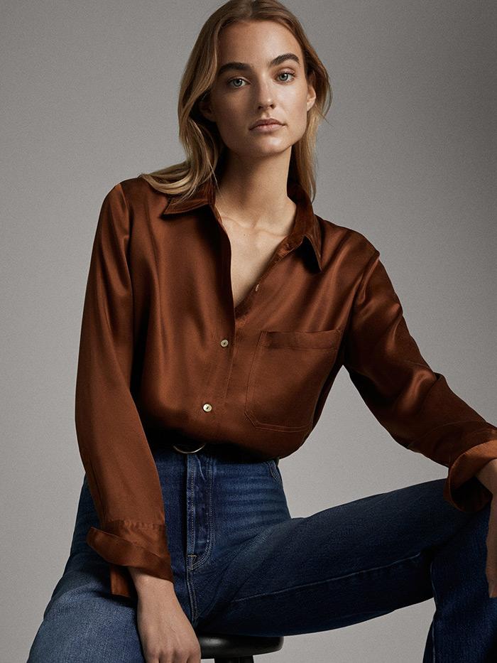 massimo dutti što odjenuti na posao style zagreb svilena košulja s trapericama