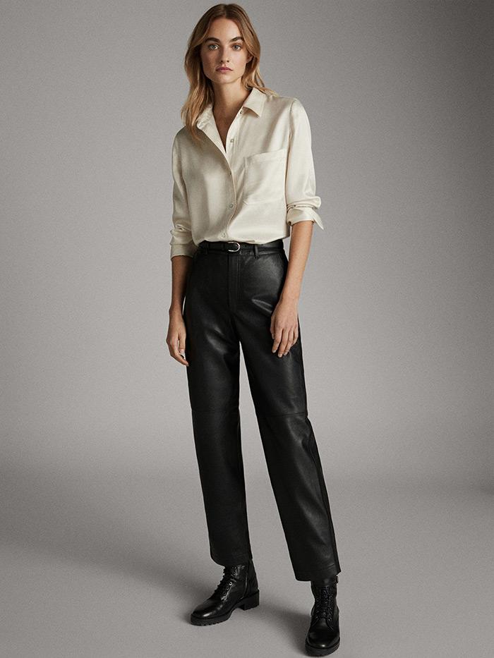 massimo dutti što odjenuti na posao style zagreb košulja i kožne hlače